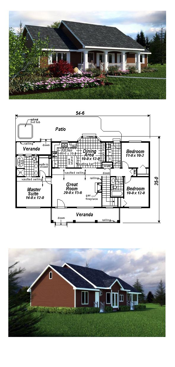 16 best country house plans images on pinterest country for Coolhouseplans com