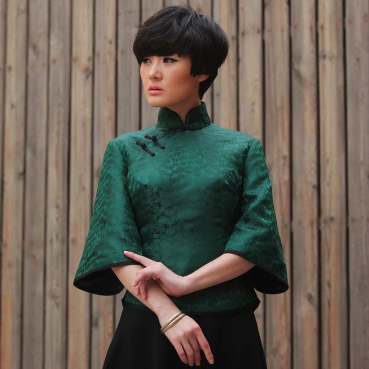 #37 - Song Of Frontier Fortress - Read full story: http://www.elegente.com/vintage-qipao-style-mandarin-tops-green.html