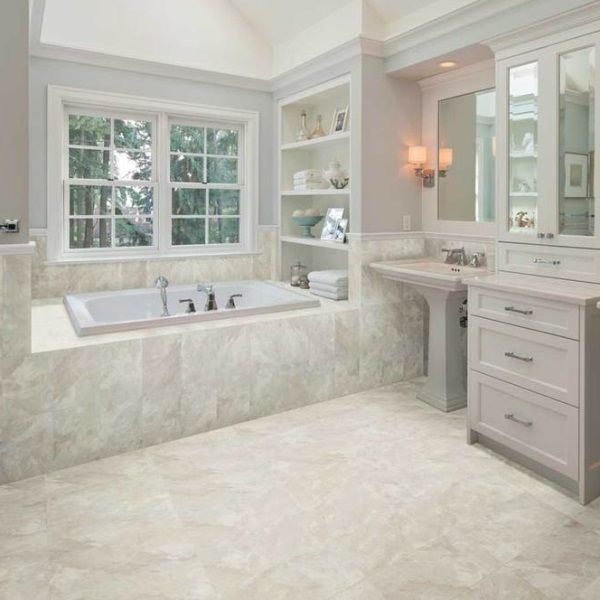 amercian olean carrara marble tile flooring
