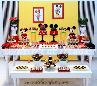 Festa Mickey e Minnie Atelier de Festas