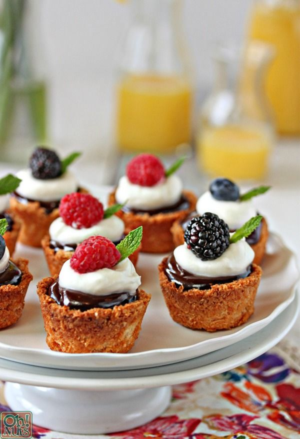 Coconut Macaroon Tarts - gluten-free chewy coconut tart shells, great for Passover! | From OhNuts.com