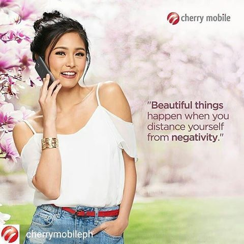 @Regrann from @cherrymobileph -  Good vibes lang all around this International Day of Happiness! Have a #CherryMonday from us and Kim Chiu, mga ka-Cherry! :) #BringingPeopleTogether #KimChiu