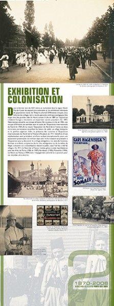 N°2 : Exhibition et colonisation - Dans le dernier tiers du XIXe siècle, se multiplient dans la région Nord-Pas-de-Calais les expositions coloniales et les exhibitions ethniques de populations issues de l'Empire colonial. Différentes troupes, sous la forme de « villages noirs » ou de spectacles anthropologiques, font étape dans des grandes villes du Nord, comme à Lille en 1889 où l'exposition « Gabon-Congo » rencontre un important succès populaire... © Groupe de recherche Achac