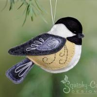 Felt Chickadee Bird Ornament - via @Craftsy More More