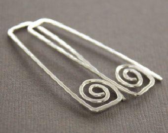 Chainmaille hecho a mano diseño cobre pendientes por IngoDesign
