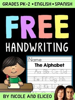 Handwriting Practice: Handwriting Practice Free Resource in English + Spanish!Handwriting is an important skill to teach writers early on. This handwriting practice pack includes handwriting practice sheets for basic print, manuscript and cursive handwriting styles.