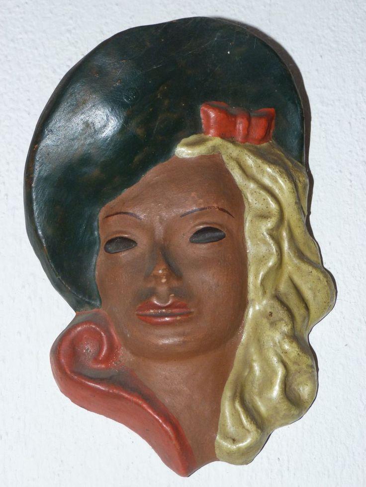 Hlava ženy art deco maska - Starožitnosti ARAGORN - Zvolenská Slatina