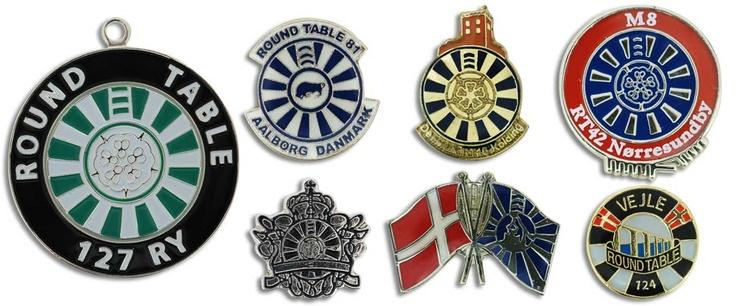 Round Table Pin fra Jydsk Emblem Fabrik A/S. Bliv inspireret online på www.jef.dk eller kontakt os direkte på T: 70 27 41 11 | E: info@jef.dk