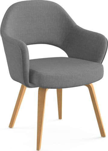 'Saarinen Executive Arm Chair with Wooden Legs by Knoll. @2Modern'