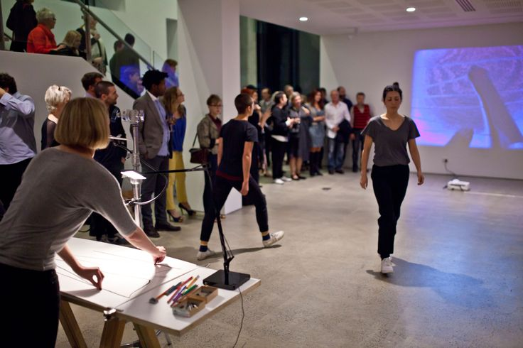 Rochelle Haley performing her work #unswgalleries #drawing #performance