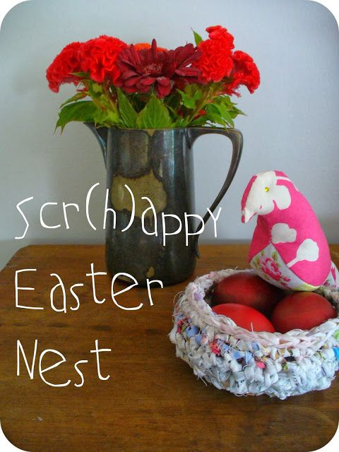 Make. Life. Beautiful.: My Creative Space: Scr(h)appy Easter nest tutorial