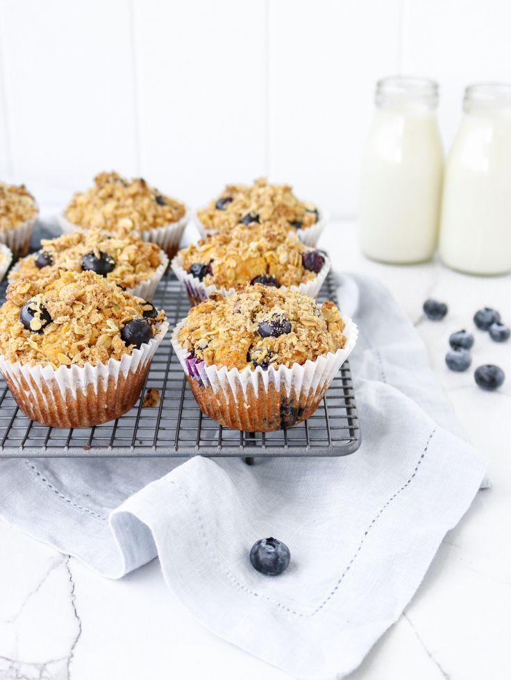 These [one bowl] carrot zucchini & blueberry muffins are delicious!  And sneak v…