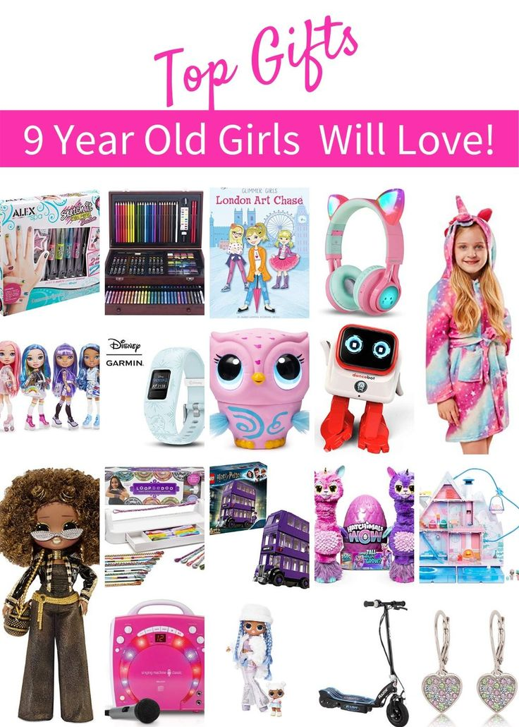 Tween Girl Gift Guide 9 year old 10 year old girly