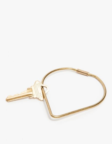 key ring, gold, mininal