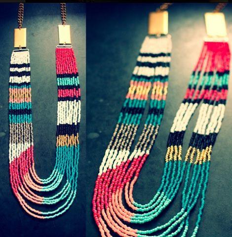 collar etnico cuentas #DIY