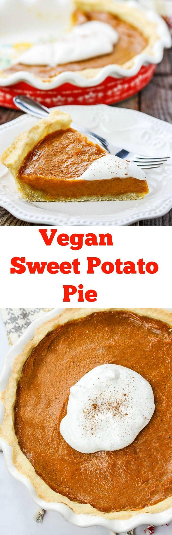 Vegan Sweet Potato Pie  #GlutenFree  #veganrecipes  #thanksgiving #christmas  #SoulFood