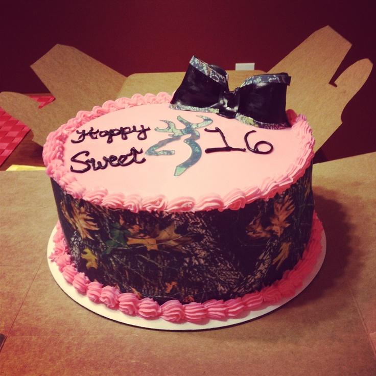 Camo cake! Sweet 16!