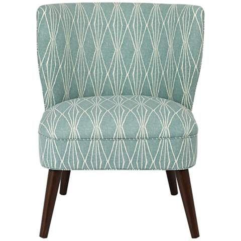 Ella Rain Armless Chair - #9G822 | www.lampsplus.com