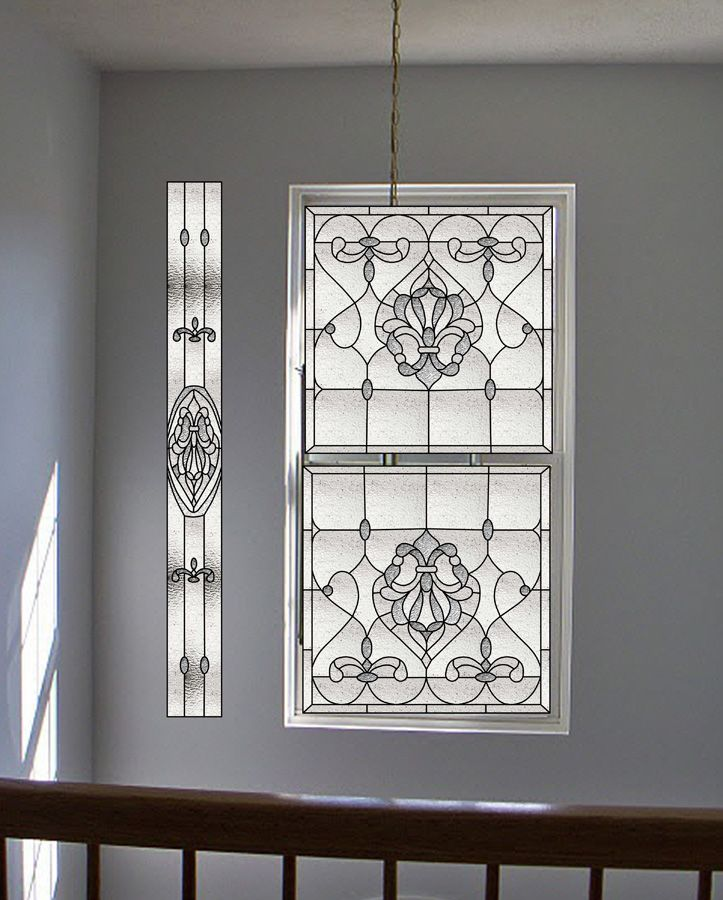 Decorative window film stained glass rubinaccio j for Fancy window design