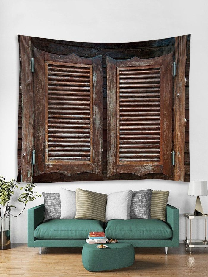 rosegal   Wood doors, Cheap wall tapestries, Black decor