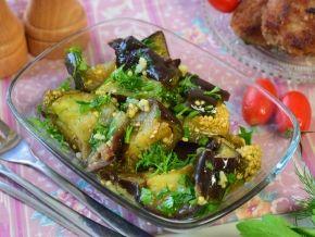 Баклажаны отварные с чесноком и зеленью — рецепт с фото пошагово