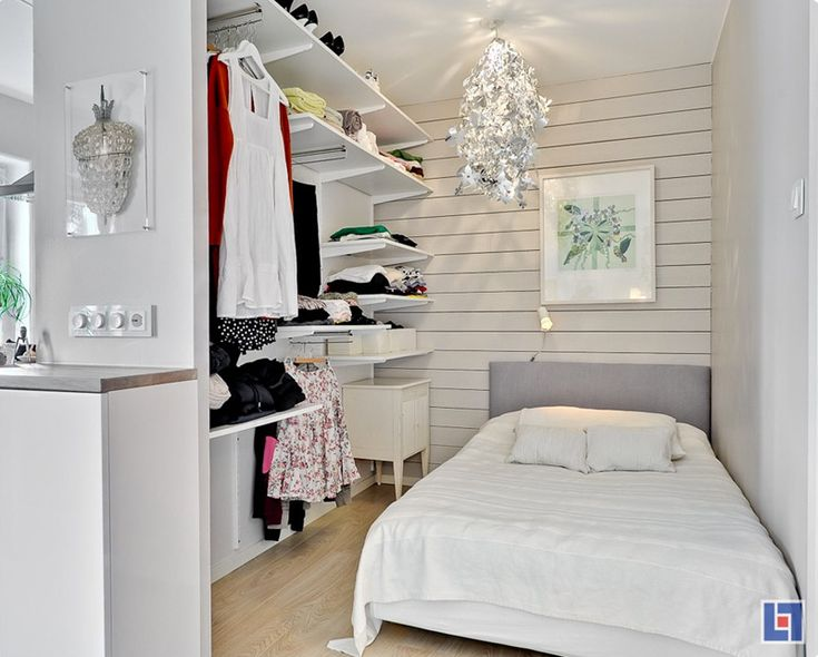 This bedroom is part of a 1-room apt in Sweden. Totally inspiring how such a small amt of space can be used so efficiently look so stylish!