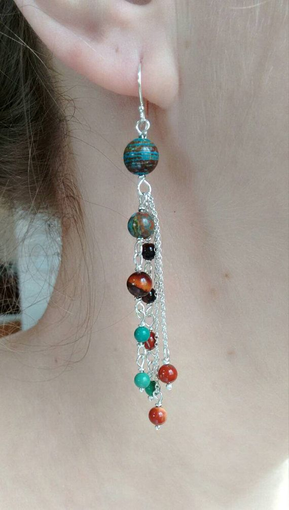 Check out this item in my Etsy shop https://www.etsy.com/il-en/listing/271184574/long-earrings-terakota-and-sky-blue