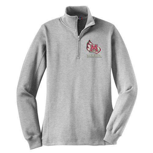 Meredith College Women's Athletic Heather 1/4-Zip Sweatshirt