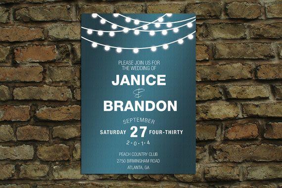 Lights Wedding Invite