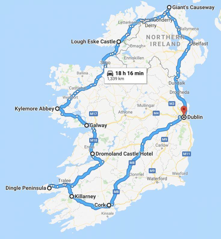 Cork Ireland Map Ireland Kork Irland Karte Carte De L Irlande