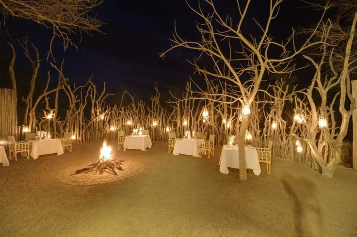 Enjoy a dinner under the African stars. Book a tour with us at the Kruger National Park: http://www.african-outposts.com/packages/kruger-safaris/