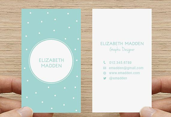 Polka Dot Business Card. Spots Confetti Calling by inmystudioo damn these are cute...but i just printed mine lol