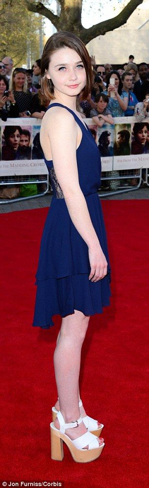 Stunning:Jessica Barden, who plays Bathsheba's maid and confidante Liddy, was stunning in...
