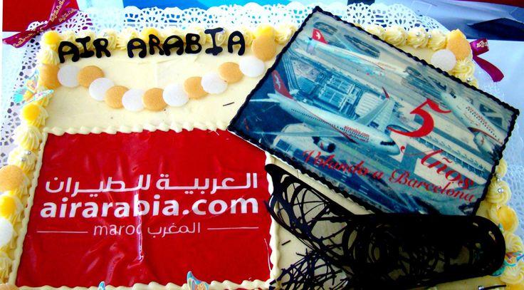 Vº aniversario de Air Arabia Maroc en el Aeropuerto de Barcelona-El Prat. 2 de junio de 2014