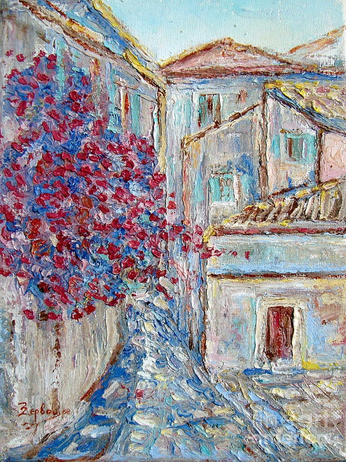 Corfu old town    Price    $240.00           Dimensions    18.000 x 24.000 cm.    This original painting is currently for sale.
