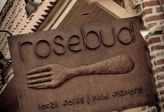 Rosebud Restaurant, serving local food in Morningside neighborhood of Atlanta.