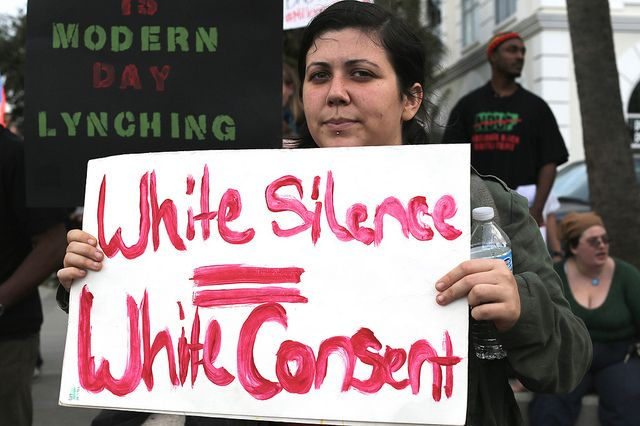 """Our responsibility as white anti-racists who want to dismantle white supremacy, and win and build a world where #BlackLivesMatter, .. is to understand that white rage...is rooted in white failure to achieve the capitalist lie of """"self-made, self-sufficient, self-controlled individualism"""" and attach blame, resentment and rage at ... people of color for this failure rather then seeing that this whole system of profound structural inequality is the real villain, predator and criminal."""