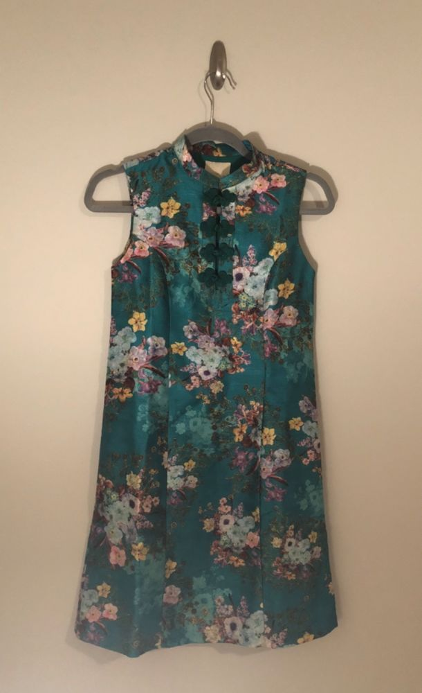 0fc03f48b017d Modcloth womens size xxs emerald green floral print Asian inspired shift  dress #fashion #clothing #shoes #accessories #womensclothing #dresses (ebay  link)