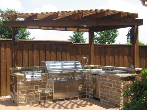 Triangle Pergola Over Grill Back Side Yards In 2018 Pinterest Outdoor Kitchen Design And