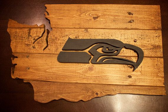Seattle Seahawks en bois signe signe de par LarkinsWoodshop sur Etsy