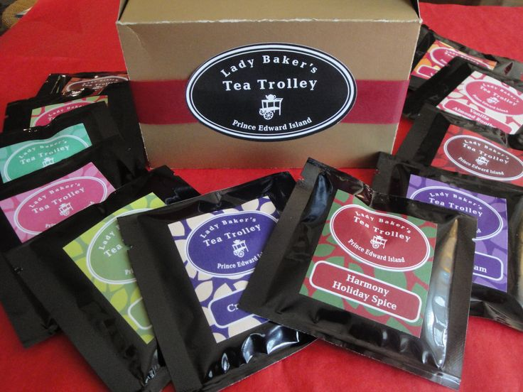 The 12 Teas of Christmas. This gift box includes 12 different loose teas and 12 tea sachets. Think of it as an advent calendar for tea lovers! Retail price: $18. For more information visit our website: http://www.ladybakersteatrolley.com