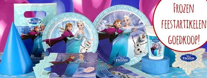 Voor goedkope Frozen feestartikelen en versiering moet u bij Feestwinkel Altijd Feest zijn.