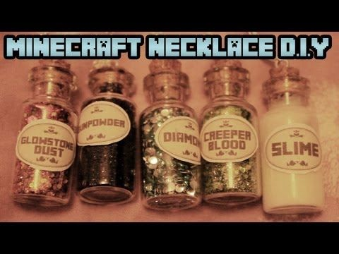 ▶ Minecraft Necklace D.I.Y - YouTube
