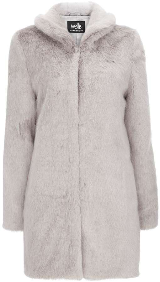 Mink Faux Fur Midi Coat