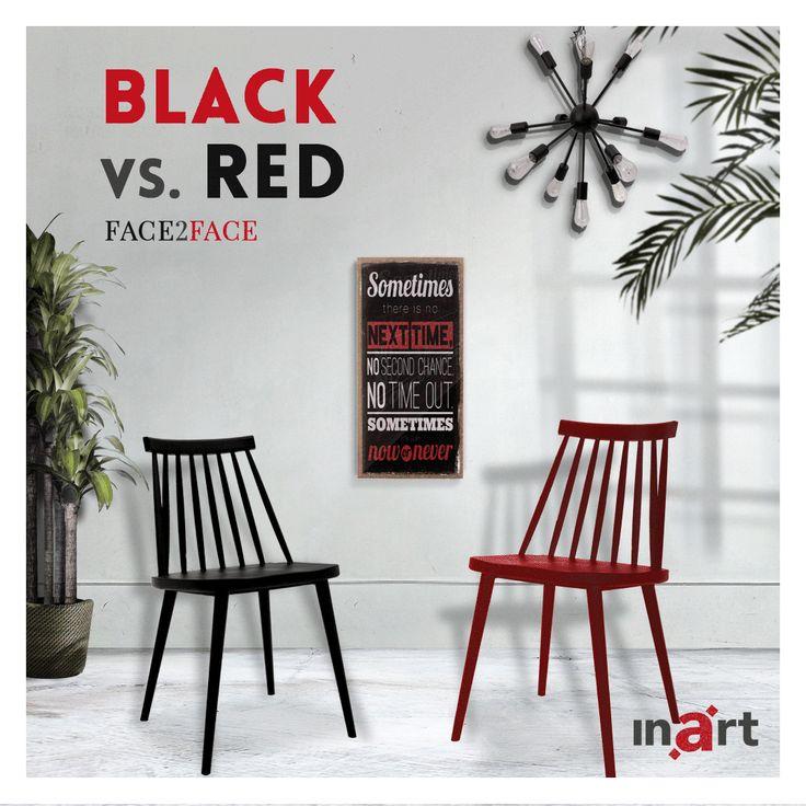 Κόκκινη ή μαύρη; Μαύρη ή κόκκινη; Ποια θα κερδίσει την προτίμησή σας; Two chairs #Face2face