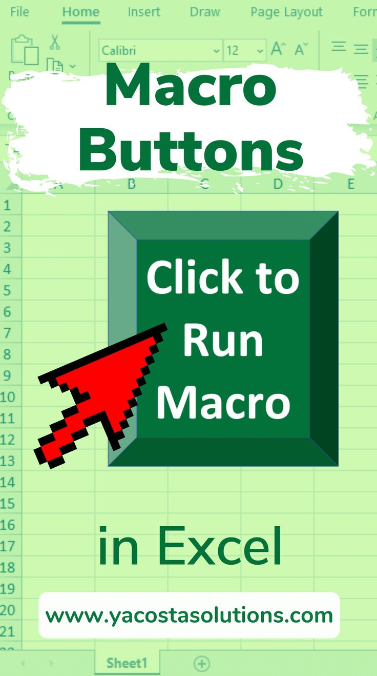Macro Buttons in Excel All You Need to Know (+ video
