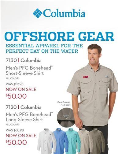 Now on SALE! Columbia Fishing Shirts