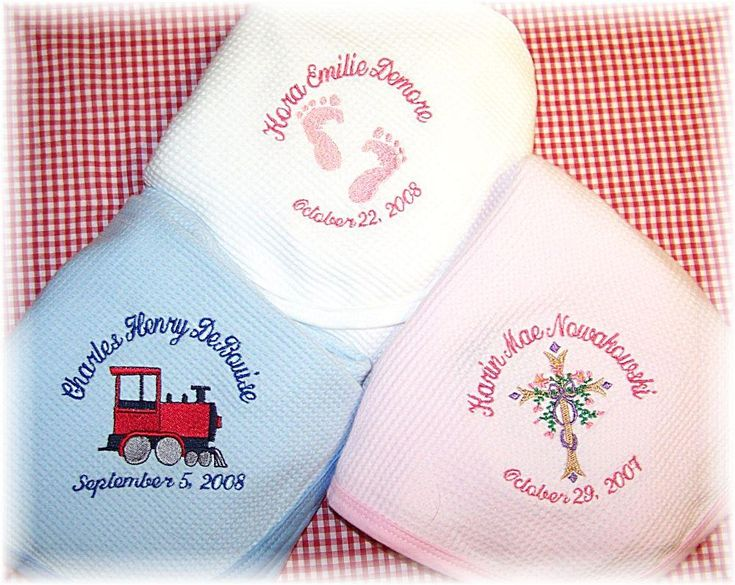 30 best corporate baby gift ideas images on pinterest gift personalized cotton baby blanket negle Image collections
