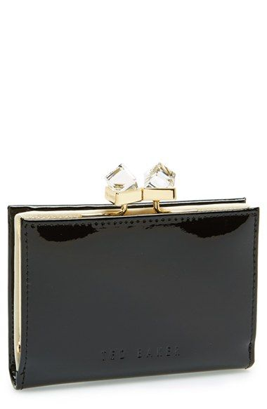 Ted+Baker+London+'Tanago+-+Crystal+Popper'+Patent+Leather+Wallet+available+at+#Nordstrom