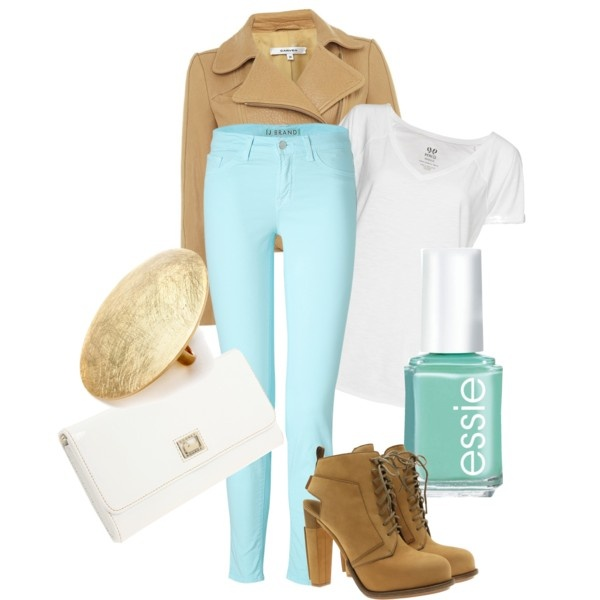 What to wear with my aqua jeans!